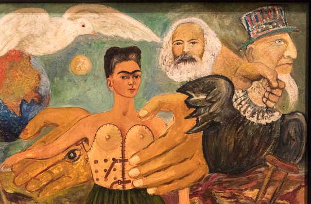 Detail from Frida Kahlo Painting